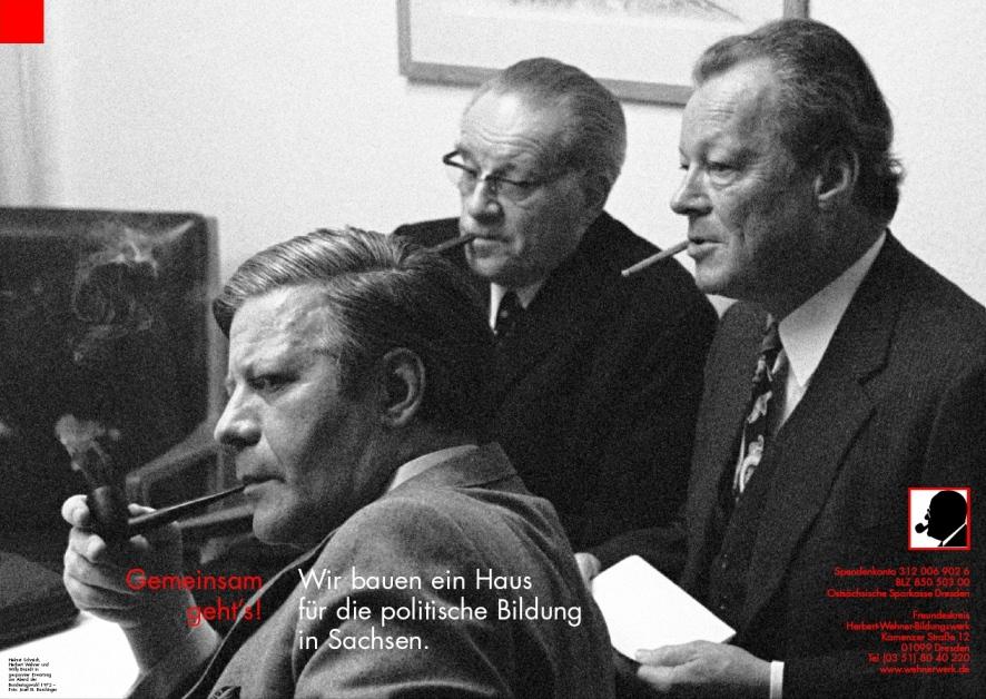 Poster Brandt, Wehner, Schmidt