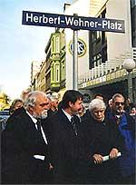 Einweihung Herbert-Wehner-Platz Hamburg, 2000